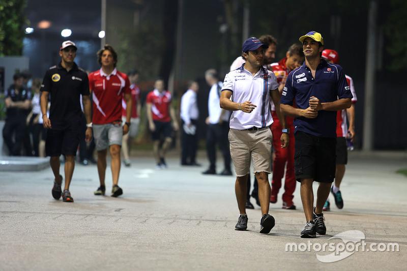 Felipe Massa, Williams, mit Felipe Nasr, Sauber F1 Team