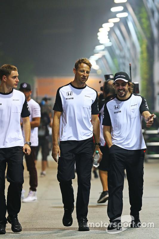 Stoffel Vandoorne, McLaren Test and Reserve Driver with Jenson Button, McLaren and Fernando Alonso, McLaren