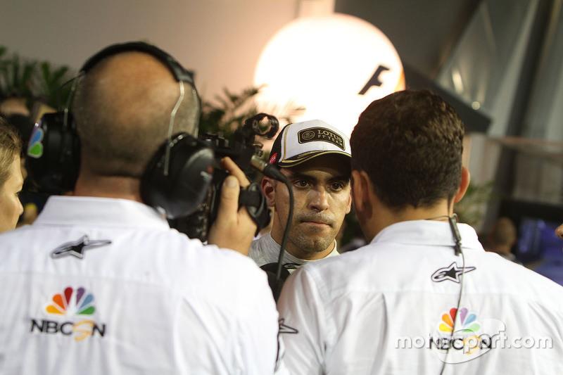 Пастор Мальдонадо, Lotus F1 Team з Уілл Бакстон, NBC Sports Network TV Коментатор