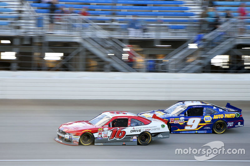 Ryan Reed, Roush Fenway Racing Ford and Chase Elliott, JR Motorsports Chevrolet