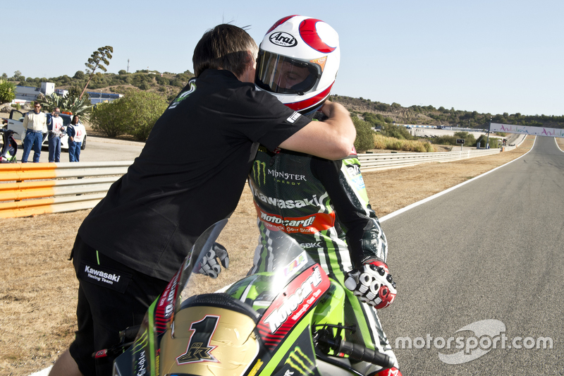 Le Champion du Monde Superbike 2015 Jonathan Rea, Kawasaki