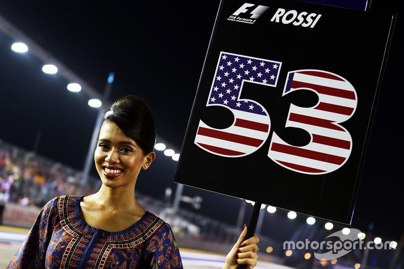 Gridgirl von Alexander Rossi, Manor Marussia F1 Team