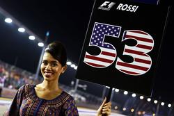 Grid girl voor Alexander Rossi, Manor Marussia F1 Team