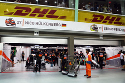 Sahara Force India F1 Team pitgarages