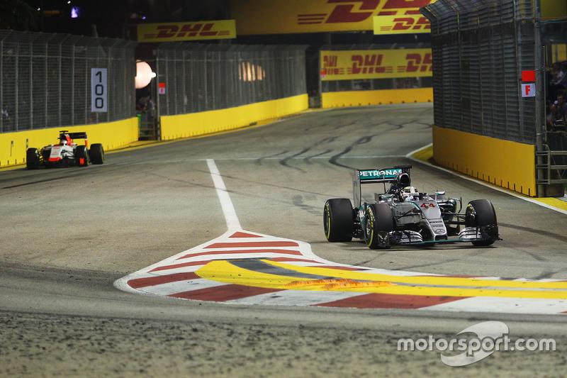 Lewis Hamilton, Mercedes AMG F1 Team pulls into the pits