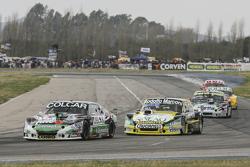 Gaston Mazzacane, Coiro Dole Racing Chevrolet y Omar Martinez, Martinez Competicion Ford y Diego de Carlo, JC Competicion Chevrolet