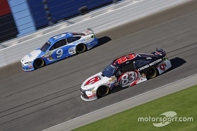 Метт ДіБенедетто, BK Racing Toyota та Сем Хорніш мол., Richard Petty Motorsports Ford