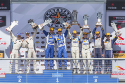 Overall podiums: P winners #01 Chip Ganassi Racing Ford/Riley: Scott Pruett, Joey Hand, PC winners #
