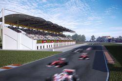 Il rendering dell'ipotizzato autodromo azero di Baku