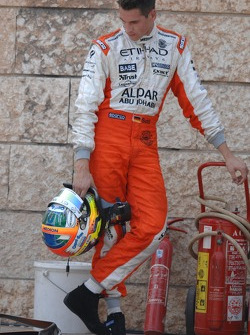 Adrian Sutil, Spyker F1 Team, F8-VII, crashed in Free Practice