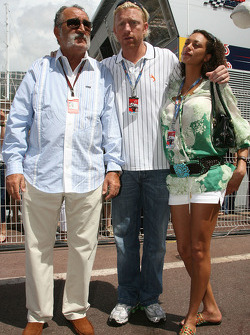 Boris Becker, Retired Tennis player and his girlfriend