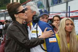 Slavica Ecclestone, Wife to Bernie Ecclestone, Flavio Briatore, Renault F1 Team, Team Chief, Managing Director and Petra Ecclestone, Daughter of Bernie Ecclestone