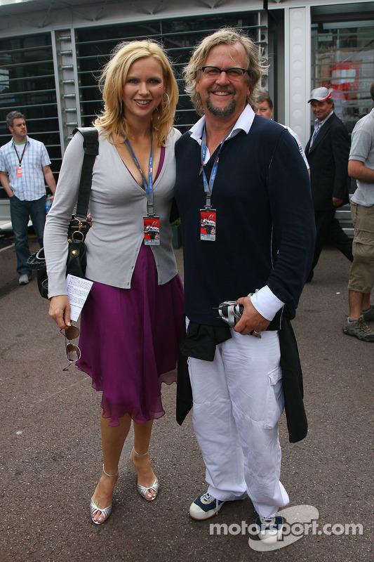 Veronica Ferres, Actress and Martin Krug her husband at Monaco GP