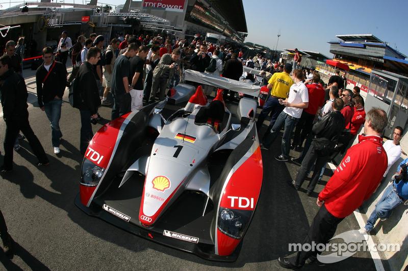 Audi Sport North America Audi R10 at scrutineering