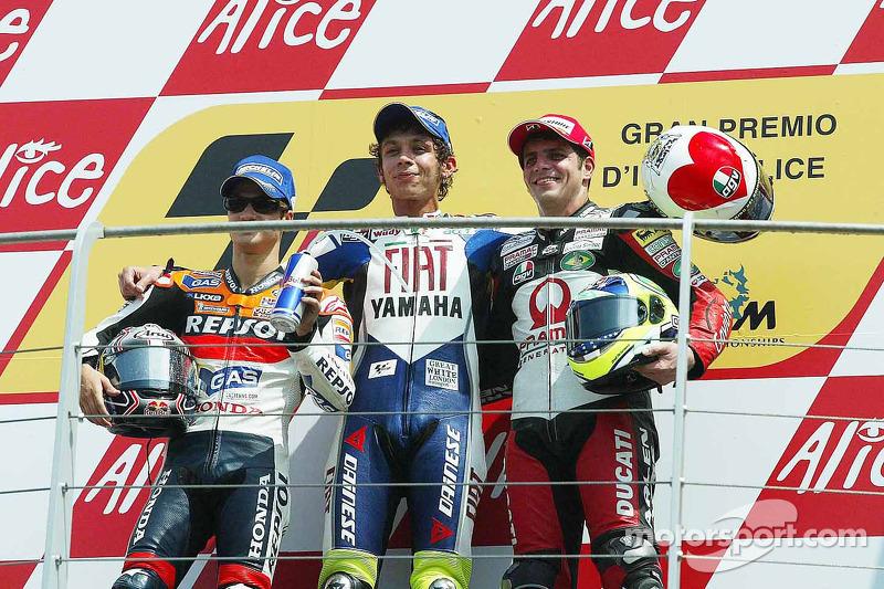 Valentino Rossi, GP da Itália (7x: 2002-2008)