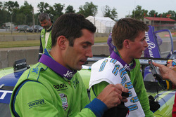 Colin Braun and Max Papis after the race