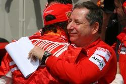 Pole Position 1st, Felipe Massa, Scuderia Ferrari, F2007 with Jean Todt, Scuderia Ferrari, Ferrari CEO