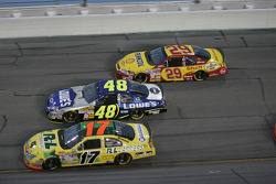 Matt Kenseth, Jimmie Johnson and Kevin Harvick