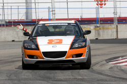 Mazda pace car leading the pack before the race