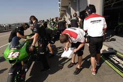 Kawasaki Racing pit area