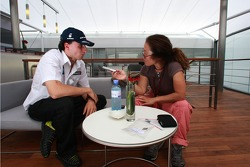 Robert Kubica, BMW Sauber F1 Team and Niki Takeda