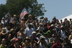 Fans in the corkscrew