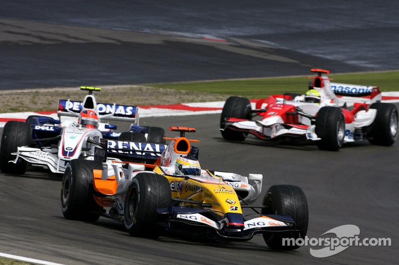 Джанкарло Фізікелла, Renault F1 Team, Роберт Кубіца,  BMW Sauber F1 Team