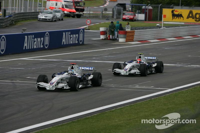Nick Heidfeld, BMW Sauber F1 Team; Robert Kubica, BMW Sauber F1 Team