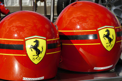 Ferrari crew helmets