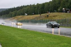 Safety car in the heavy rain