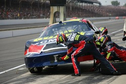 Casey Mears in the pits for damage repair