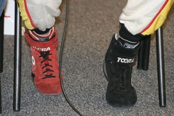 Vincent Radermaker's racing boots