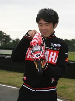 Remote controlled bike race: Noriyuki Haga