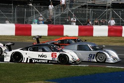 Start: #6 Michael Shank Racing Lexus Riley: John Pew, Ian James, #91 Riley-Matthews Motorsports Pontiac Riley: Jim Matthews, Marc Goossens