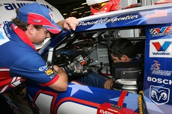 Patrick Carpentier tries the Valvoline Dodge