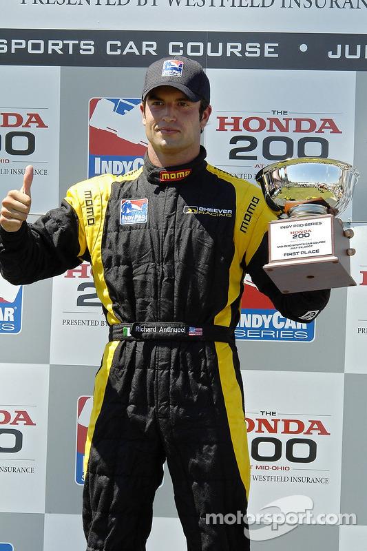 51 Richard Antinucci on the podium as the winner