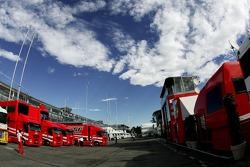 Scuderia Ferrari in the F1 Paddock