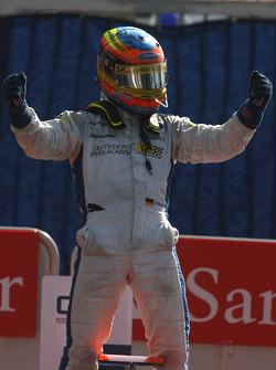 Timo Glock celebrates victory
