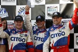 DP podium: second place Kris Szekeres, Tomas Enge and Ryan Dalziel