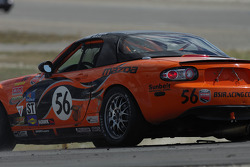 Spin-out for #56 BSI Racing Mazda MX-5: Todd Buras, Christian Miller