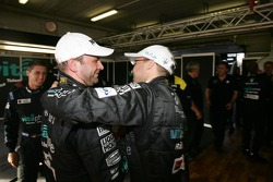 Pole winners Michael Bartels and Thomas Biagi celebrates