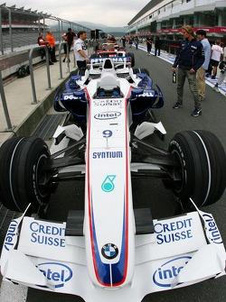 BMW Sauber F1 Team, car in the pitlane