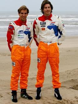 Jeroen Bleekemolen, driver of A1 Team Netherlands and Arie Luyendyk Jr., driver of A1 Team Netherlands