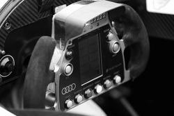 Steering wheel of the Audi Sport North America Audi R10 TDI Power
