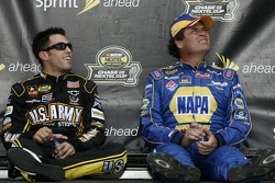 Aric Almirola and Michael Waltrip