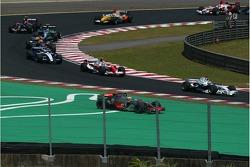 Lewis Hamilton, McLaren Mercedes drives off the circuit