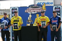 Final four group shot: Allen Johnson, Jeg Coughlin Jr., Dave Connolly and Greg Anderson