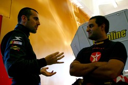 Dario Franchitti and Juan Pablo Montoya
