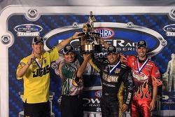 2007 Powerade Series Champions: Pro Stock champion Jeg Coughlin, Funny Car champion Tony Pedregon, T