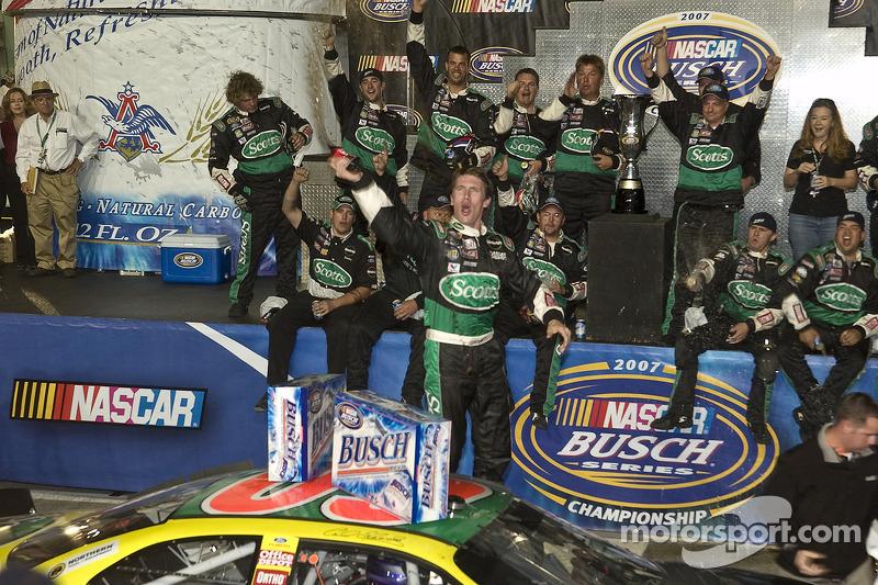 Championship Victory Lane 2007 NASCAR Busch Series Champion Carl Edwards Celebrates